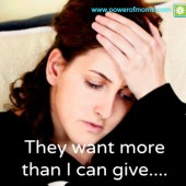 Do you ever feel like your children need more than you have the energy to give? www.poweroffamilies.com