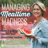 Managing Mealtime Madness
